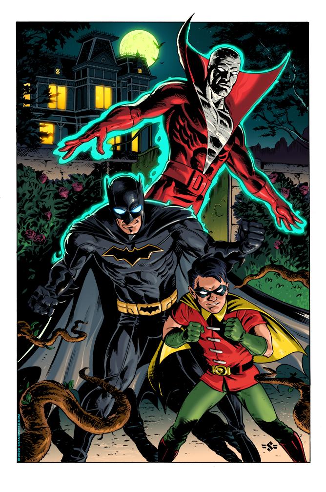 """shane white"" ""shane patrick white"" ""comics"" ""illustration"" ""covers"" ""pinups"" ""art"" ""DC Comics"" ""Batman"" ""Robin"" ""Deadman"""
