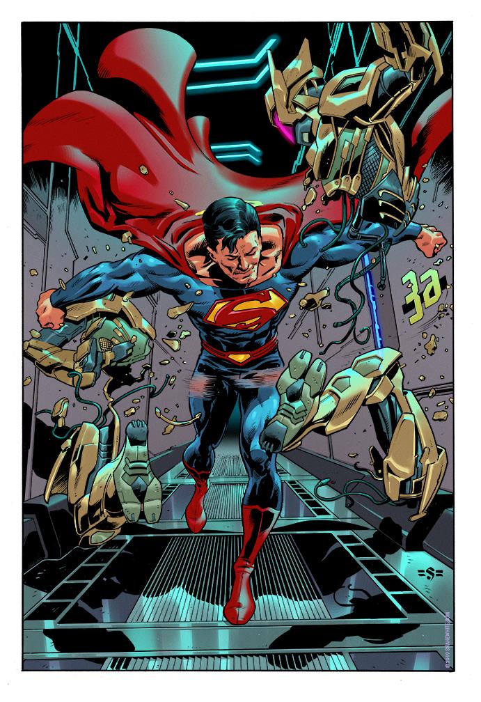 """shane white"" ""shane patrick white"" ""comics"" ""illustration"" ""covers"" ""pinups"" ""art"" ""DC comics"" ""Superman"""